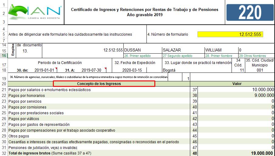 Imagen: Descargar Certificado de ingresos y retenciones