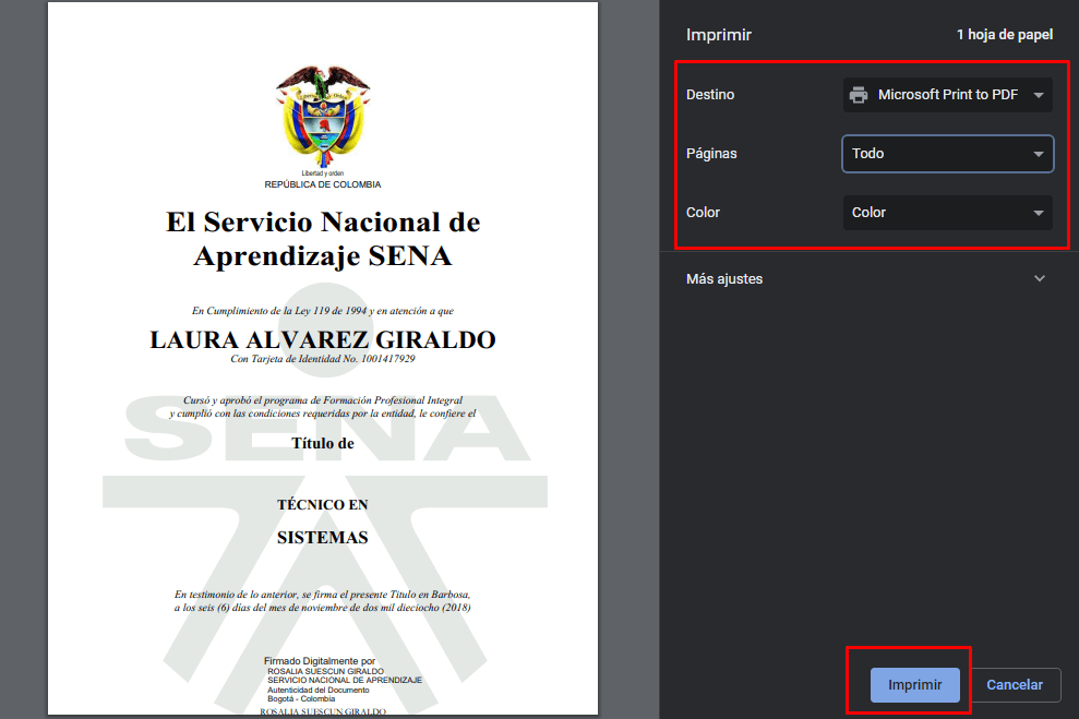 Imagen: Descargar certificado SENA | Certificado de estudio