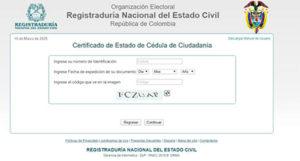 Certificado de Cédula