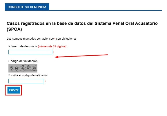 Imagen: Consulta de Procesos Fiscalía por Cédula